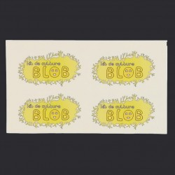 Lot de 4 stickers - kit de culture blob