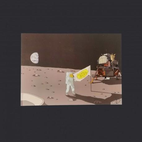Postal card - Bobby on the moon